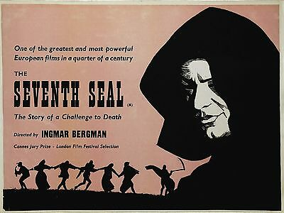 """The Seventh Seal 16"""" x 12"""" Reproduction Movie Poster Photograph"""