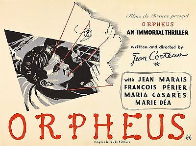 """Orpheus 16"""" x 12"""" Reproduction Movie Poster Photograph"""
