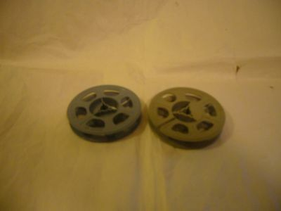 "2 Vintage 8mm Film Reels-3""  holds 50 feet of film"