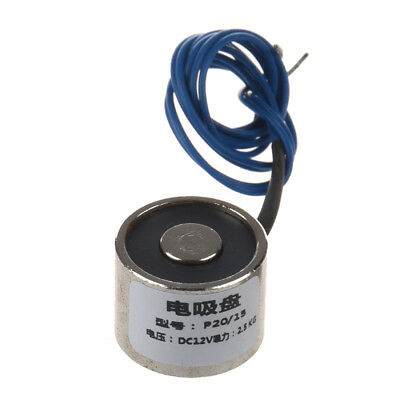 New Sucked Electric Lifting Magnet Electromagnet 12VDC 2.5Kg 5.5LB 20x15mm F6