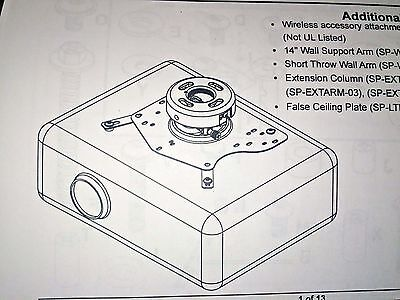 *NEW IN BOX* Infocus SP-CEIL-UNIV Projector Ceiling Mount - NEVER USED +++++++++