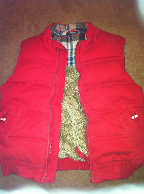 John Lewis Boys Bodywarmer Gilet 4-5 years, Red, lovely and snuggly !!