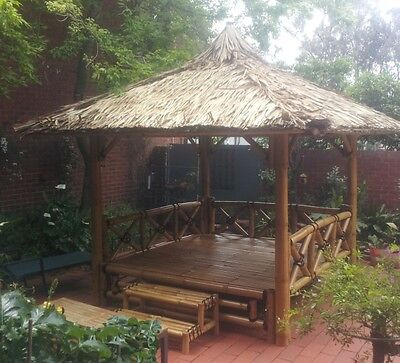 Bali Hut 3.5m x 3.5m roofline  $2200  - other sizes available