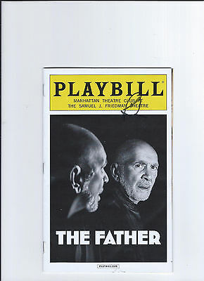 Frank Langella Signed The Father Opening Night Playbill Broadway April 14, 2016