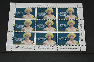 Pitcairn Islands 1980 Queen Mothers Birthday Sheetlet    Fine M/n/h Cond