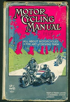 Vintage Motorcycle Book 'Motorcycling Manual' 1929 BSA with rare dustcover