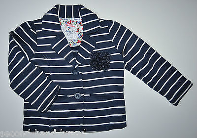 Junior J Debenhams Girls Navy Cotton Tweed Jacket Sweat 3-4 Years Eu 104Cm