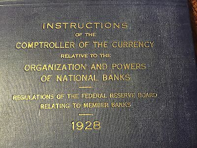 Organization And Powers Of National Banks - 1928