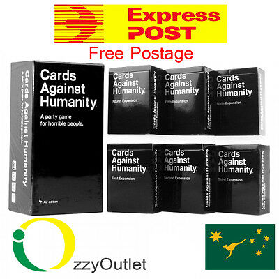 Cards Against Humanity Base Pack + Expansions 1-2-3-4-5-6 (Australian Edition)