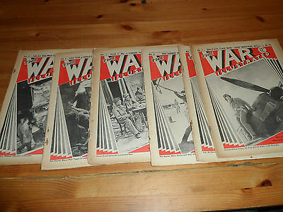 WWII 2 the War Illustrated Newpapers 1940 1941 Allies Germany Reich Hitler Army