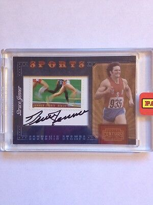 2010 Panini Century Coll. Bruce Jenner 17/36 Autograph Stamp Card