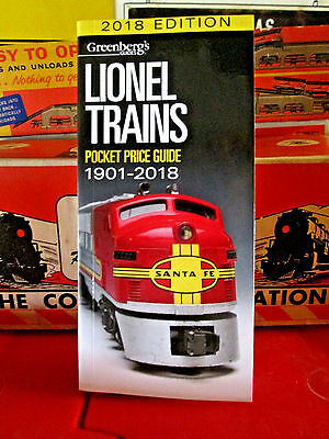 2018 Greenberg's Price Guide...for Lionel Trains...free Shipping...mint!.....u83