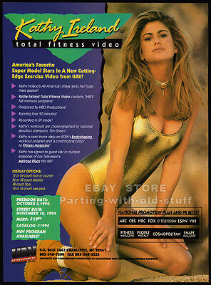 KATHY IRELAND: Total Fitness__Original 1994 Trade Print AD promo__INDUSTRY ONLY