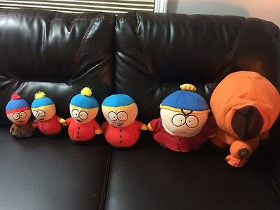 South Park Lot Of 7 Plushes Cartman Kenny And Stan
