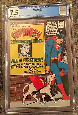 SUPERBOY #146 CGC 7.5 off-white/white Neal Adams cover