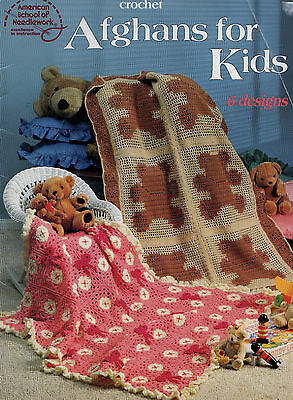 Crochet Pattern Baby Blanket Afghans For Kids  Soccer Teddy Checkerboard - 6