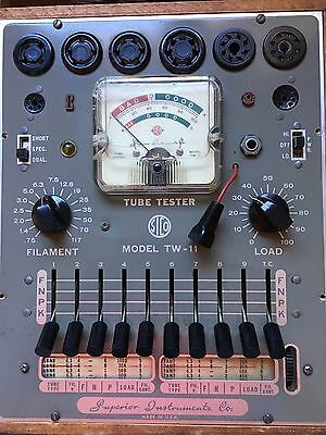 Vintage Tube Tester - Superior Instuments Model TW-11 with Wood Case