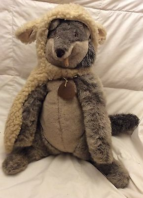 "Vintage 1982 Dakin Elegante 21"" Wolf In Sheeps Clothing Plush Stuffed Animal"