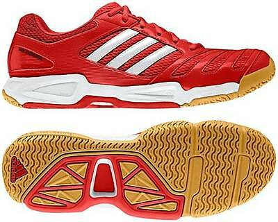 Adidas Feather Team Indoor Court Shoes Squash Shoes - Red / Size US 12 / AU 11.5