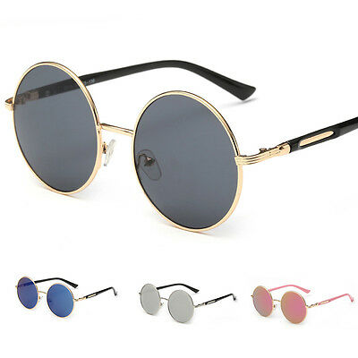 Vintage Round Frame Women Men Retro Mirror Sunglasses Eyewear Shades Eye Glasses