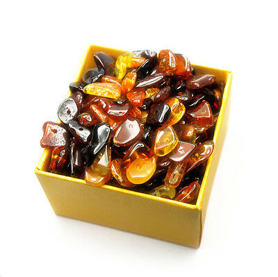 Baltic amber loose beads chips about 110 pcs multicolor 10gr