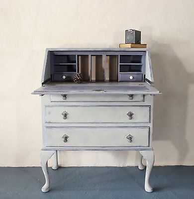 Handpainted Vintage Bureau - delivery available from £60