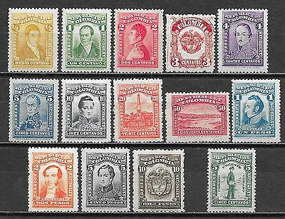 Colombia stamps 1917 MI 239-250+255  MLH  VF