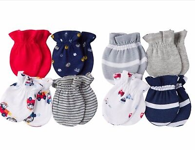 New Gerber Newborn Baby Mittens Two 4 Pack's Mittens 0-3 Months