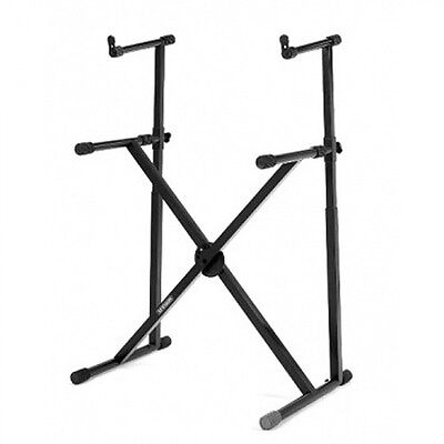 Hercules KS210B X-Style Keyboard Stand with Extra Tier - New model