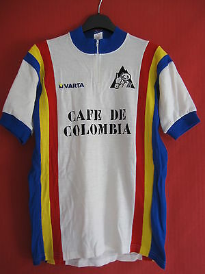 Maillot cycliste Cafe de Colombia 30 % laine Vintage cycling jersey - 4 / L