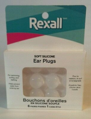 Soft Silicone Ear Plugs (6 pairs plus 1 case)