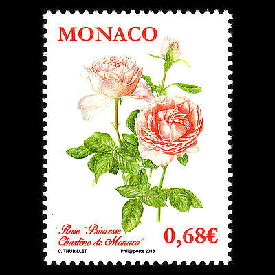 Monaco 2015 - 1st Anniv of the Princess Grace Rose Garden Flowers - MNH