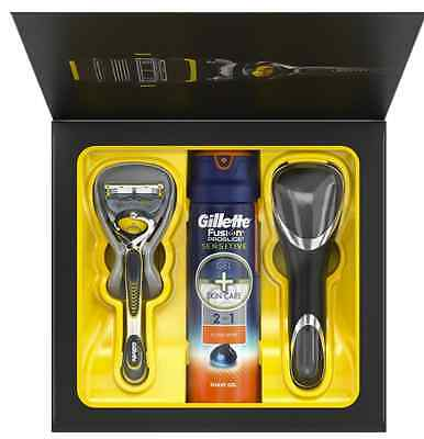 NEW gillette fusion proshield gift set Cosmetic Set Razor Travel Case