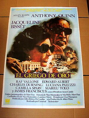 THE GREEK TYCOON Orig Movie Poster ANTHONY QUINN JACQUELINE BISSET RAF VALLONE