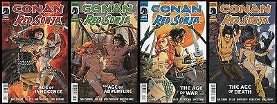 Conan Red Sonja comic set 1-2-3-4 Lot Robert E Howard REH Barbarian Panosian art