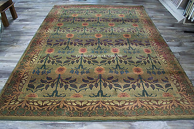 William Morris Style Arts & Crafts Mission Area Rug **FREE SHIPPING**