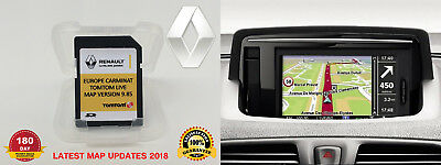 RENAULT Tom Tom LIVE CARMINAT NAVIGATION SD CARD EUROPE+UK SAT NAV MAP 2016/2017