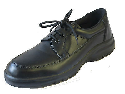 R13A Totectors 2527 Mens Black Leather Steel Toe Safety Shoes