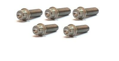 Titanium Bolt 5 PACK 5 6AL-4V 3/8 inch to 3 inch UNC Imperial thread 12 Point