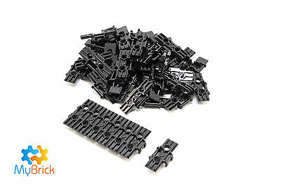 Lego Technic Black link Tread Wide with Two Pin Holes - 57518 x 50