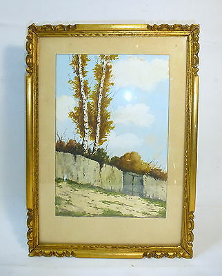 Watercolour Picture Painting um signed Dale Belgium um 1900