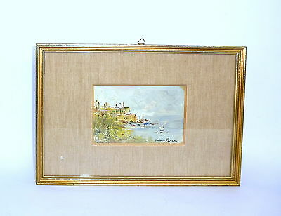Painting in the Frame Maritime Öl Italian from 1940