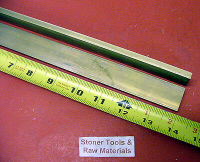 "2 Pieces 1/4"" x 1"" C360 BRASS FLAT BAR 14"" long Solid .250"" Mill Stock H02"