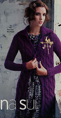 Vogue Knitting Pattern Cable Hat Scarf Capelet Shawl Long Sweater Coat Jacket