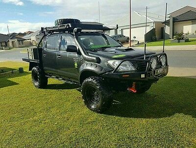 Hilux Toyota 2005-2012 Front Only Fender Flares / Jungle Guard Arch Sr5 Black