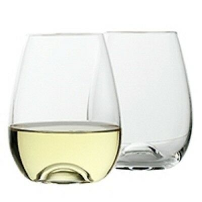 NEW Ecology Stemless White Wine Glass Set of 4