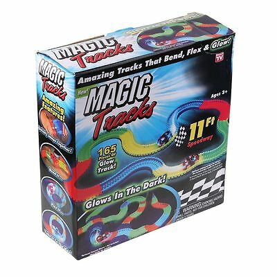Newest Magic Tracks The Amazing Racetrack that Can Bend Flex Glow 11Ft Toys