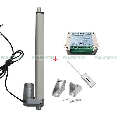 """18"""" Stroke Length Linear Actuator Motor and Wireless Remote Control Controller"""