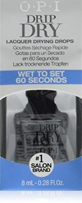 OPI DRIP DRY DRYING DROPS with dropper rapid polish drying drops - 9ml - unboxed