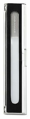 LEIGHTON DENNY CRYSTAL NAIL FILE IN ALUMINIUM CASE -135mm- As seen on QVC
